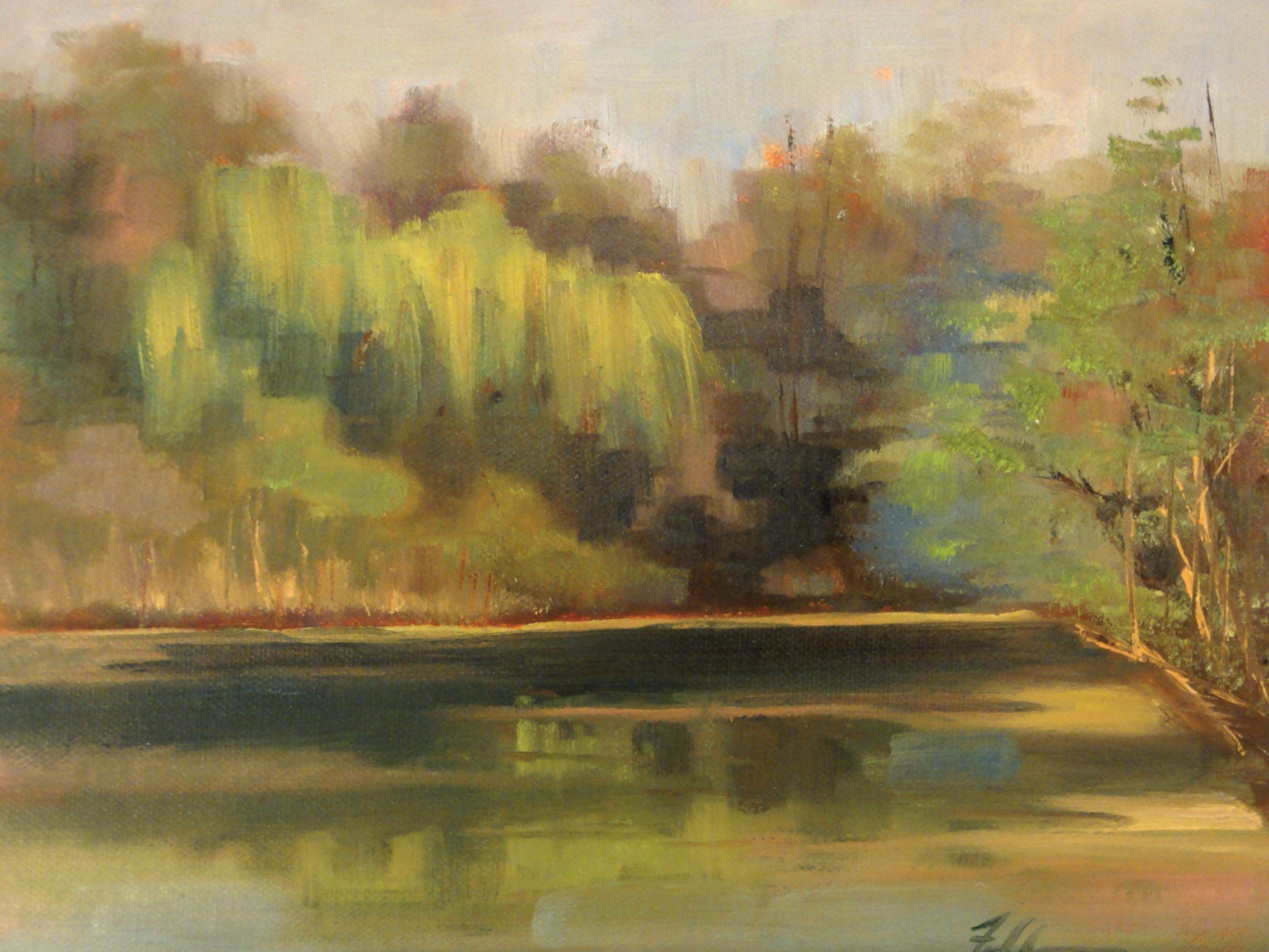 """""""Weeping Willow"""" original fine art by Ann Feldman"""