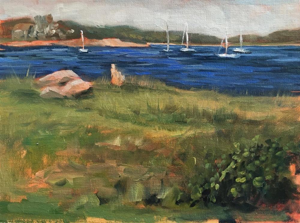 """An Afternoon on the Island"" original fine art by Linda Marino"