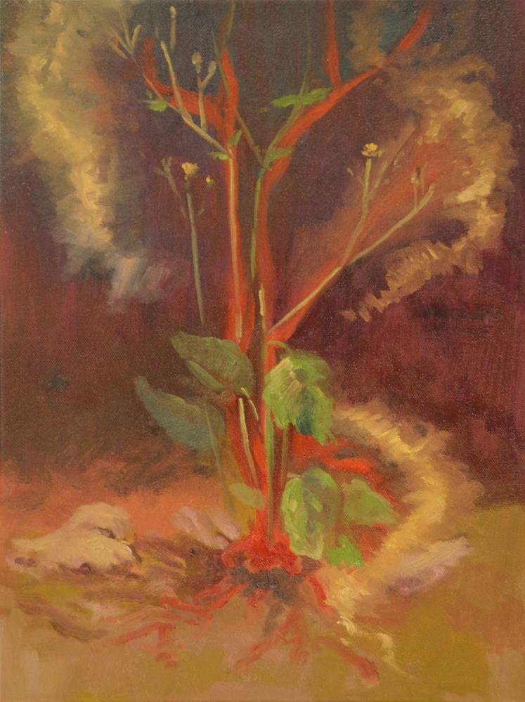 """PLANT ENERGY"" original fine art by Karen E Lewis"