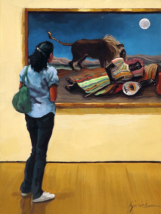 """Rousseau"" original fine art by Karin Jurick"