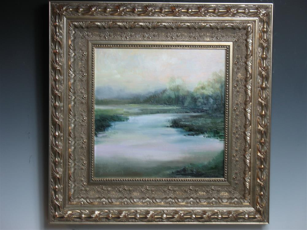 """12 x 12 canvas board, custom frame:  After The Rain"" original fine art by Brenda Kollman"