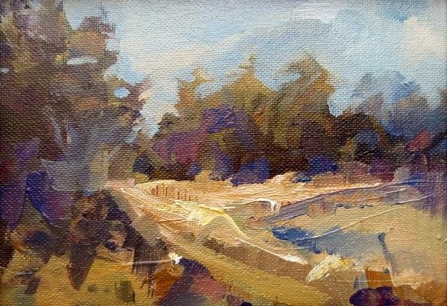 """West Field Corner"" original fine art by Anne Wood"