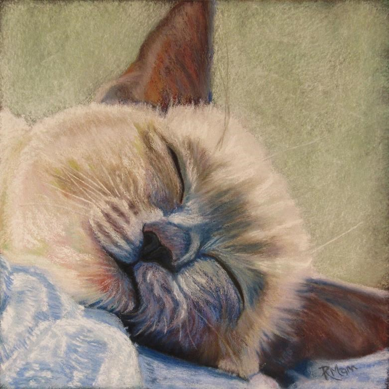"""Snooze"" original fine art by Ruth Mann"
