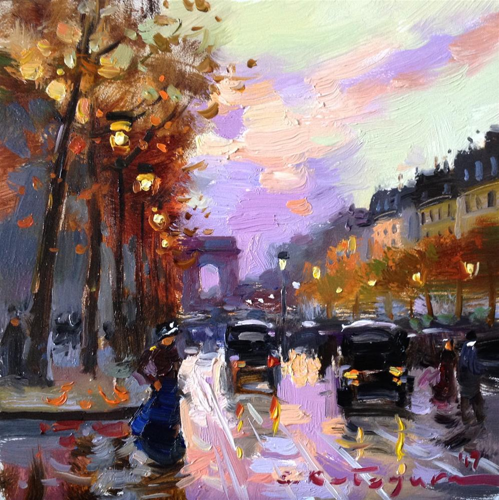 """Busy Boulevard"" original fine art by Elena Katsyura"