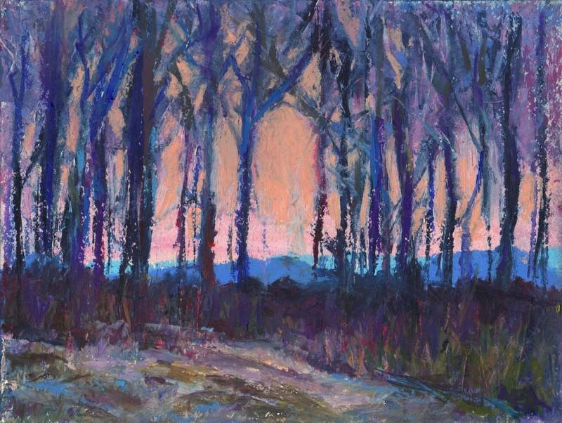 """Sunset Over the Next Ridge"" original fine art by Meredith Adler"