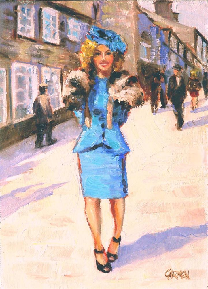 """Shades of the Forties, 5x7 Oil on Canvas Board"" original fine art by Carmen Beecher"