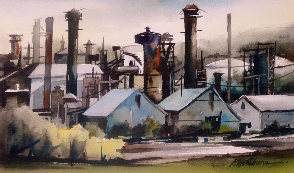 """Insights on Industry VII"" original fine art by Kathy Los-Rathburn"