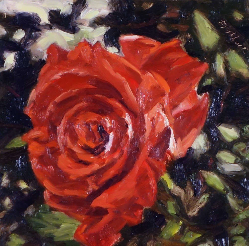 """Red Rose"" original fine art by Daniel Fishback"