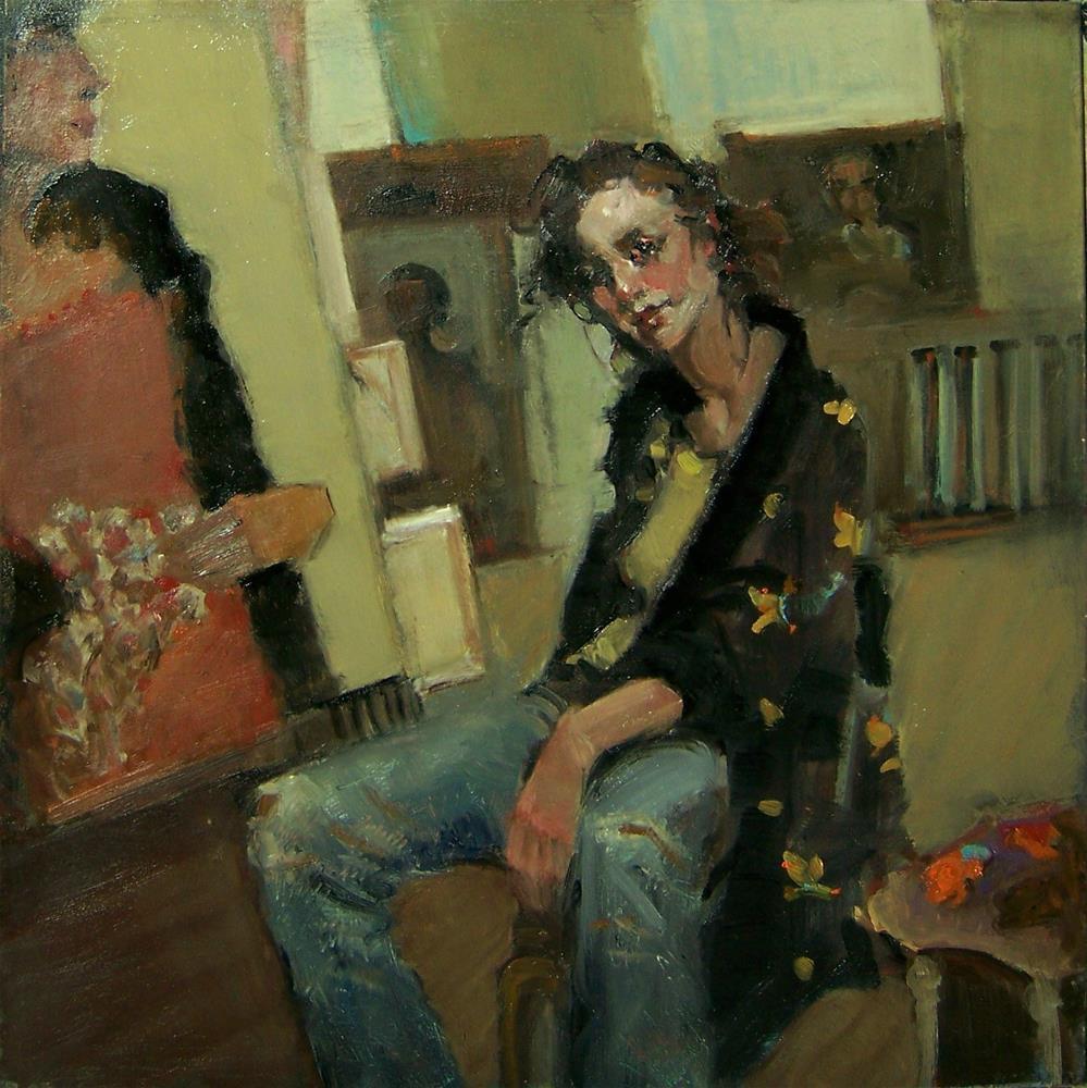 """Portrait of a lady"" original fine art by Kim Roberti"