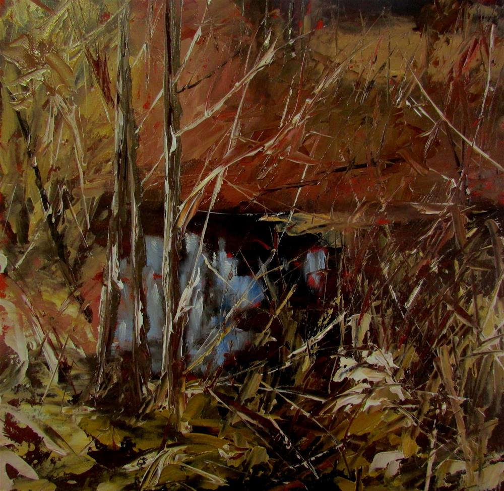 """8 x 8 inch oil Chemainus Creek"" original fine art by Linda Yurgensen"