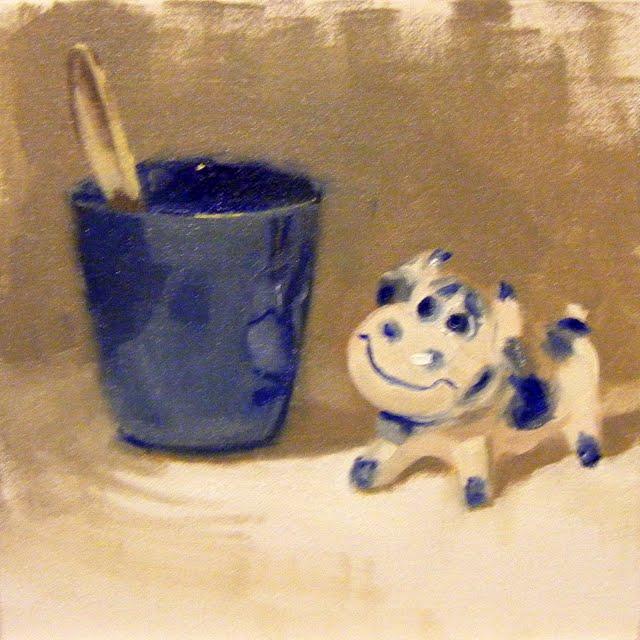 """CHINA MOO"" original fine art by Helen Cooper"