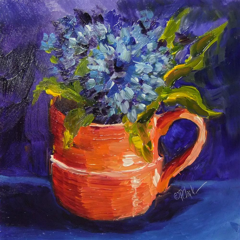 """CUP A JOY"" original fine art by Donna Pierce-Clark"
