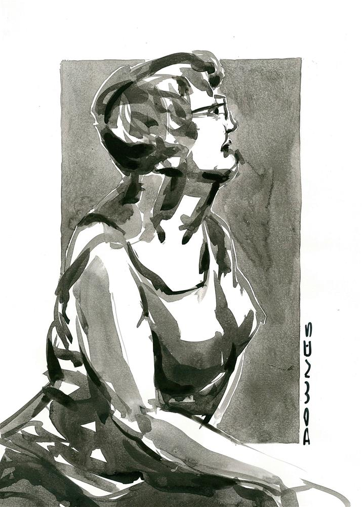 """315 LIFE DRAWING 30"" original fine art by Trevor Downes"