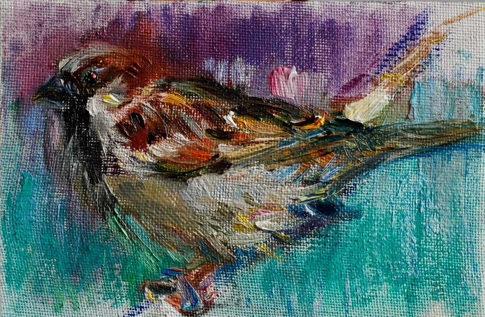"""Little Sparrow Bird"" original fine art by Anna Fine Art"