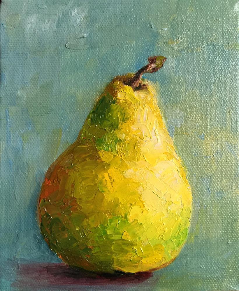 """pear"" original fine art by Joy Cai"