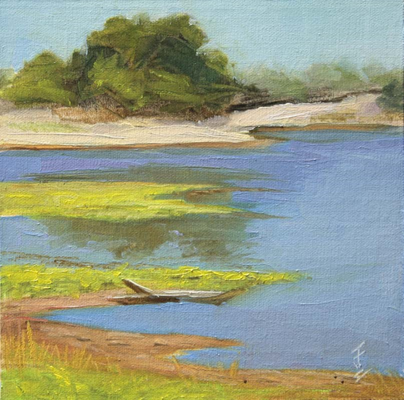 """Hill Country Pond"" original fine art by Jane Frederick"