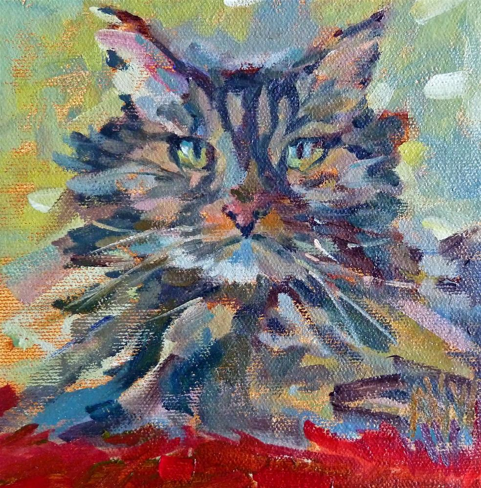 """Happy 2015! This is a panting of my dear departed Wendell. NFS Check out my blog to submit photos to  my cat portrait challenge."" original fine art by Mary Sheehan Winn"