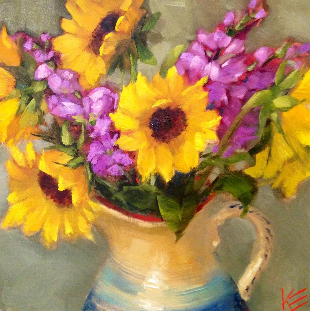 """Moment of Sunshine"" original fine art by Krista Eaton"