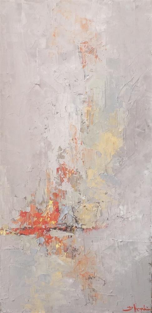 """Fire in my Hands"" original fine art by Denise Hopkins"