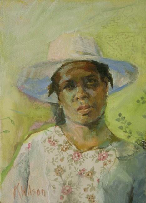 """""""White Hat"""" original fine art by Katie Wilson"""