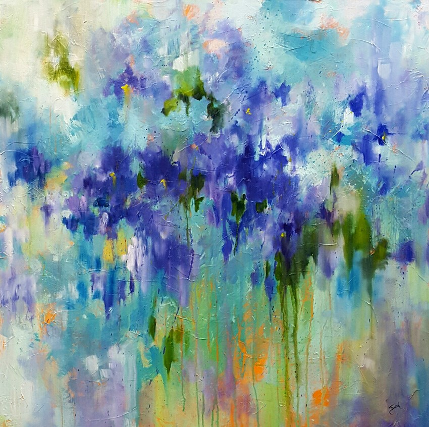 """Melting Iris"" original fine art by Sue Dion"