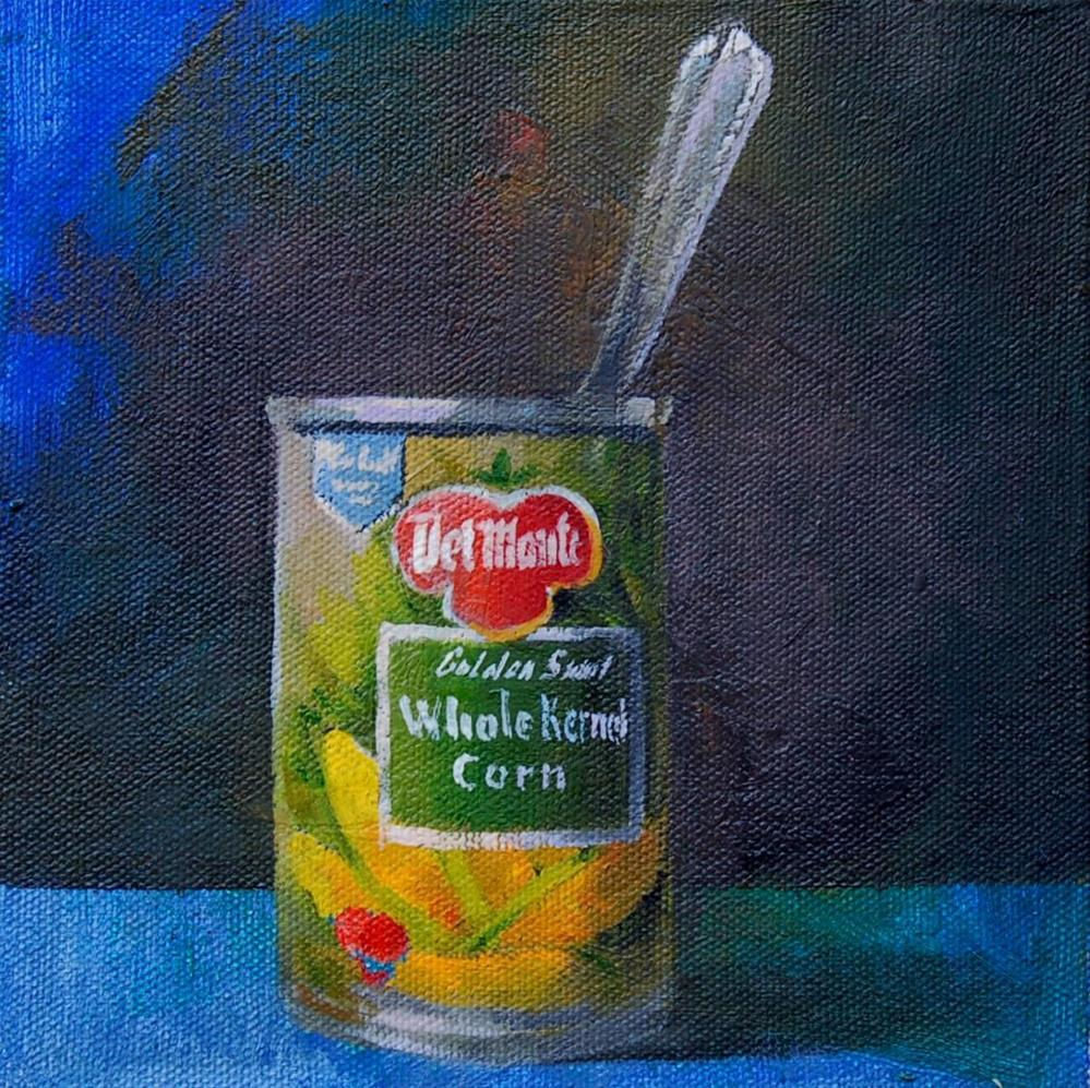 """whole corn"" original fine art by V. DeBak"