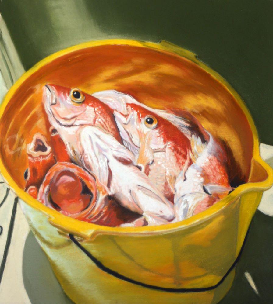 """Red Snapper"" original fine art by Jill Bates"
