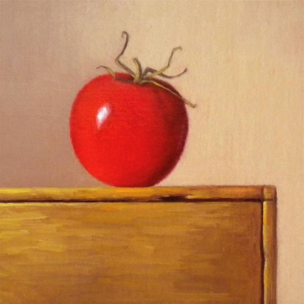 """""""Sun Ripened Tomato"""" original fine art by Darla McDowell"""
