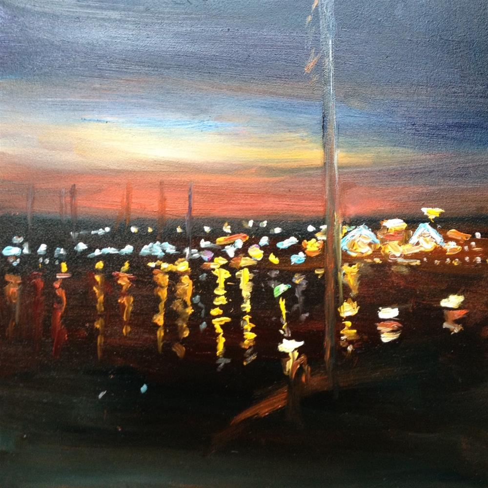 """Night on Kent Island"" original fine art by Claudia L Brookes"