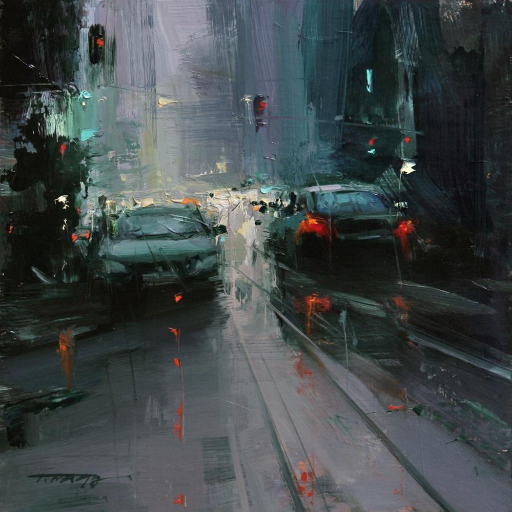 """Main Street (Study)"" original fine art by Tibor Nagy"