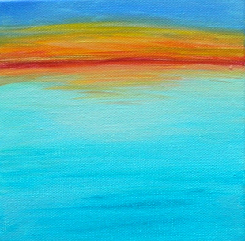 """Aqua #1"" original fine art by Gloria Urban"