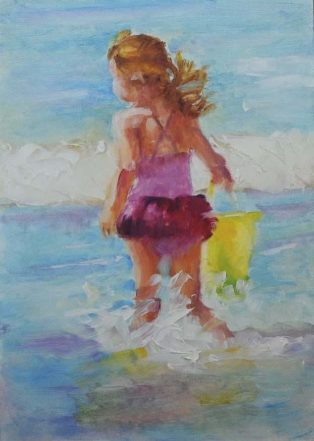 """Sunshine!"" original fine art by Sue Churchgrant"