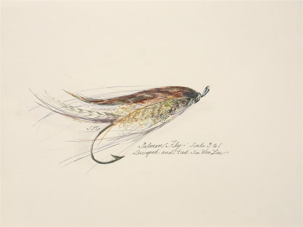 """Salmon Fly"" original fine art by Jean Krueger"