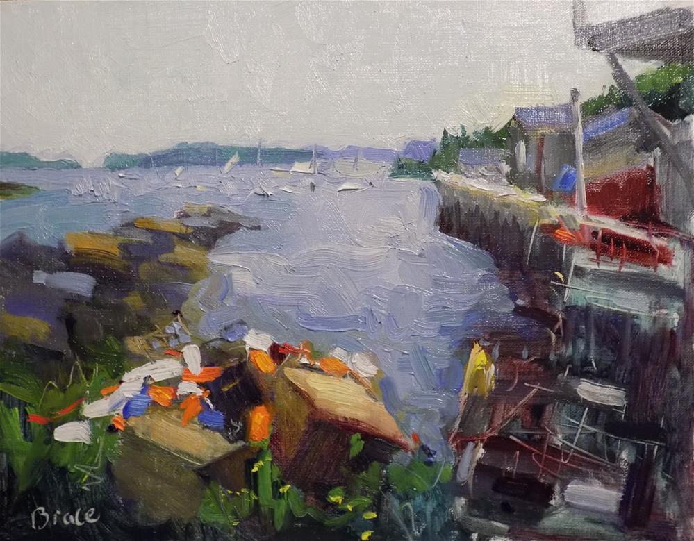 """For The Lobsters"" original fine art by Rita Brace"