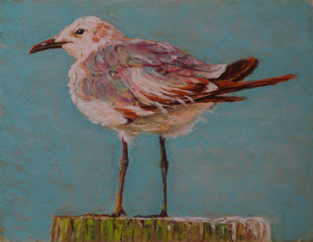 """""""Gull Post"""" original fine art by Denise Beard"""