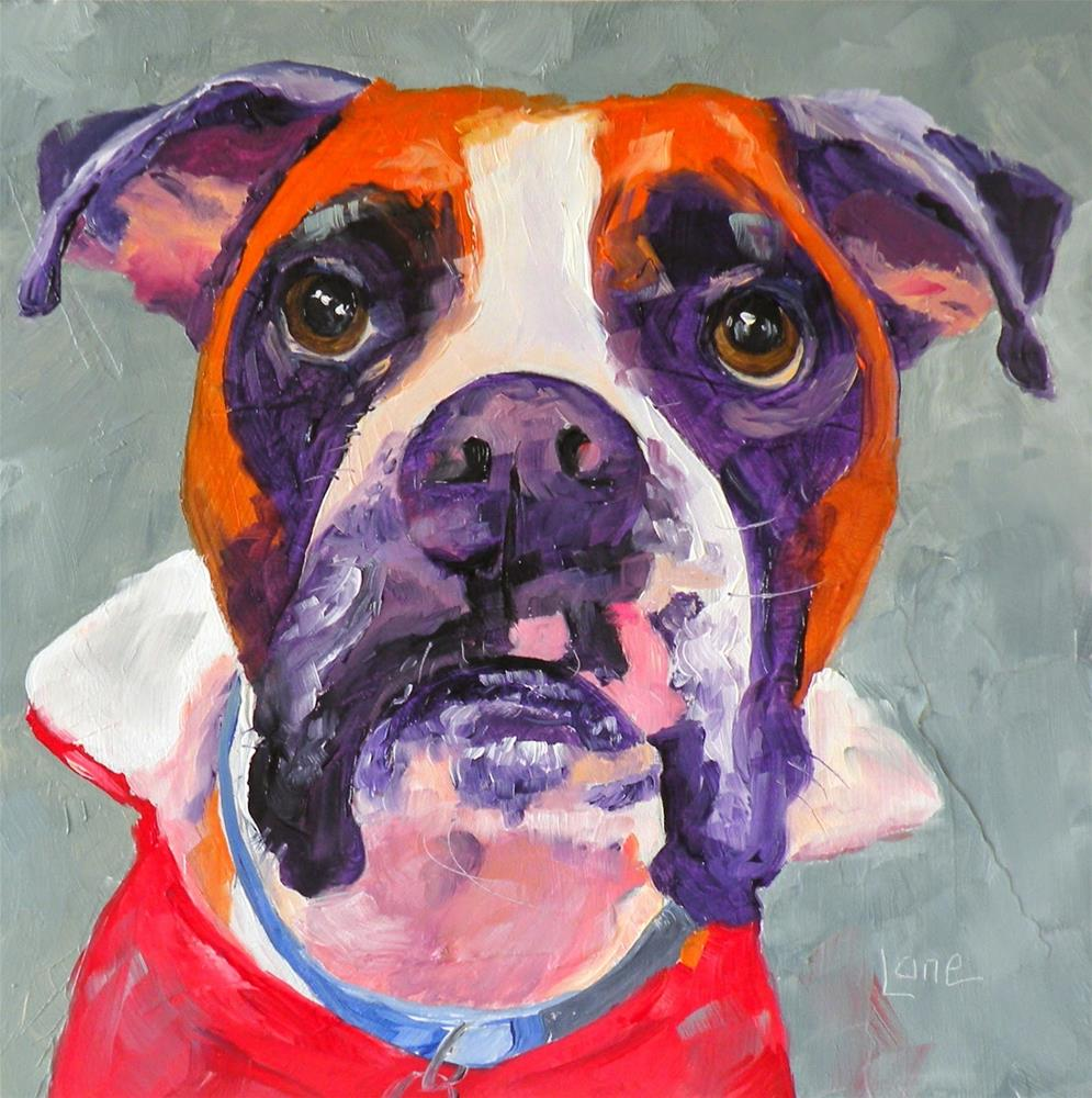 """DIESEL 59/101 OF 101 PET PORTRAITS IN 1010 DAYS © SAUNDRA LANE GALLOWAY"" original fine art by Saundra Lane Galloway"