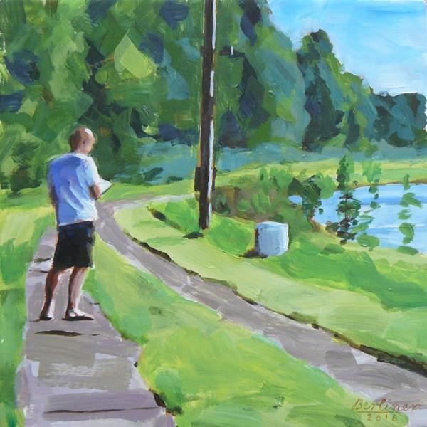 """""""051 Der Zeichner"""" original fine art by Anja Berliner"""