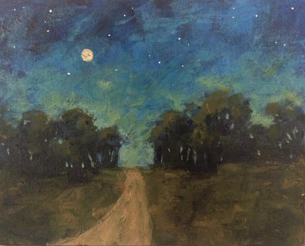 """Start of Night"" original fine art by Shannon Bauer"