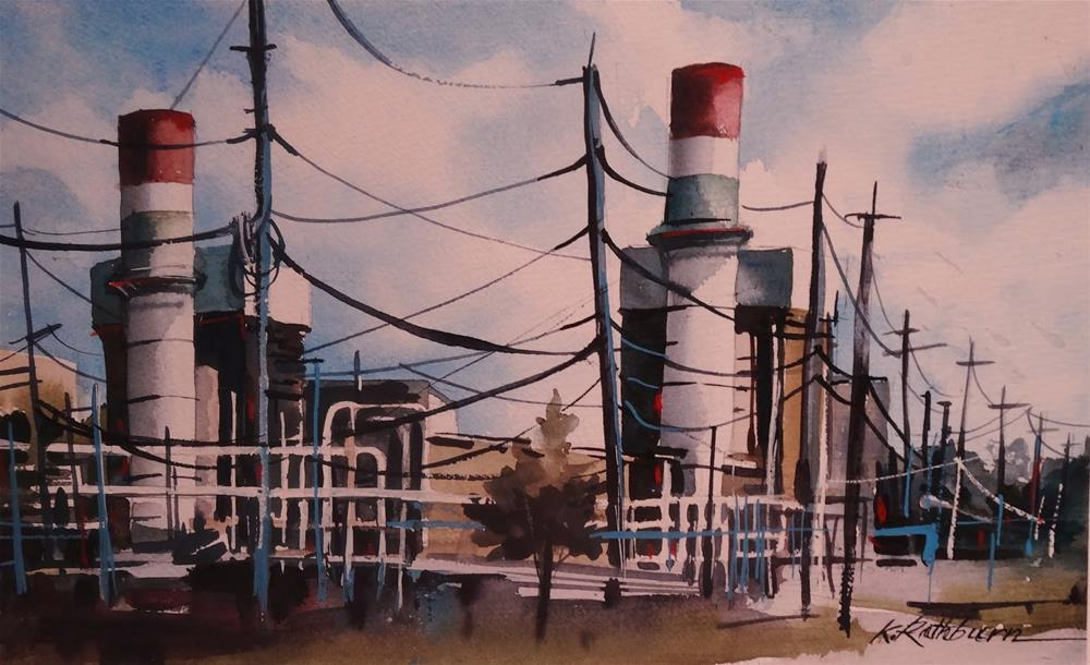"""Insights on Industry XV"" original fine art by Kathy Los-Rathburn"