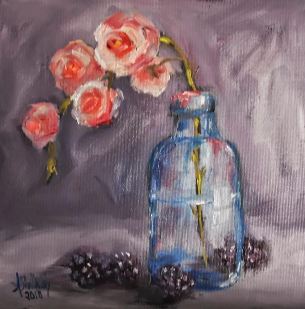 """Berry Down still life painting by Alabama Artist Angela Sullivan"" original fine art by Angela Sullivan"