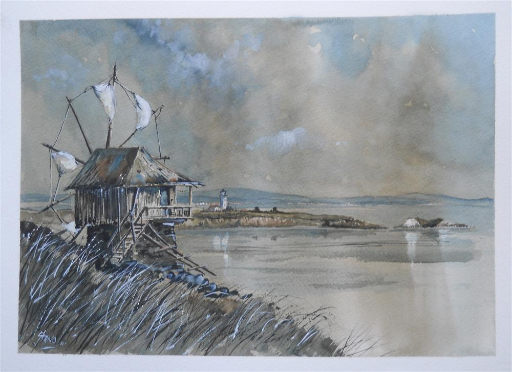 """The Windmill and The Islands"" original fine art by Martin Stephenson"