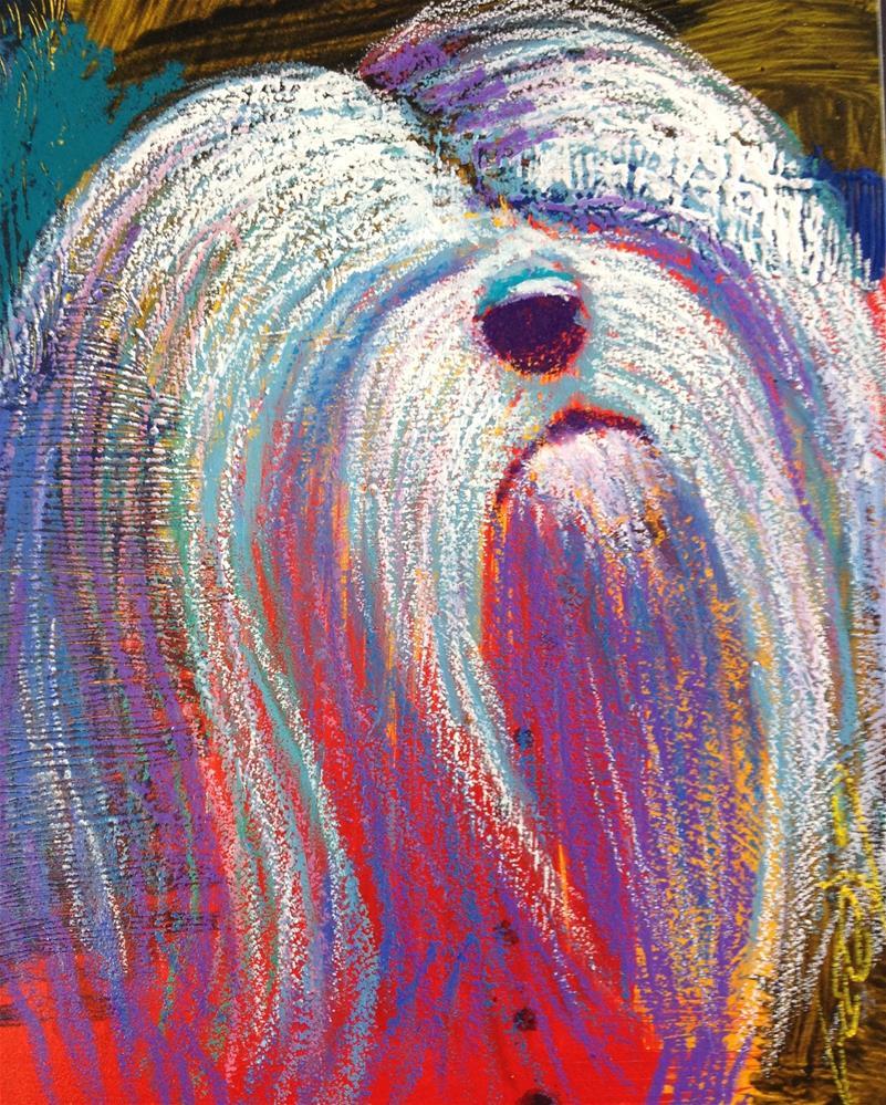 """Peekaboo. I see you."" original fine art by Jeff Leedy"