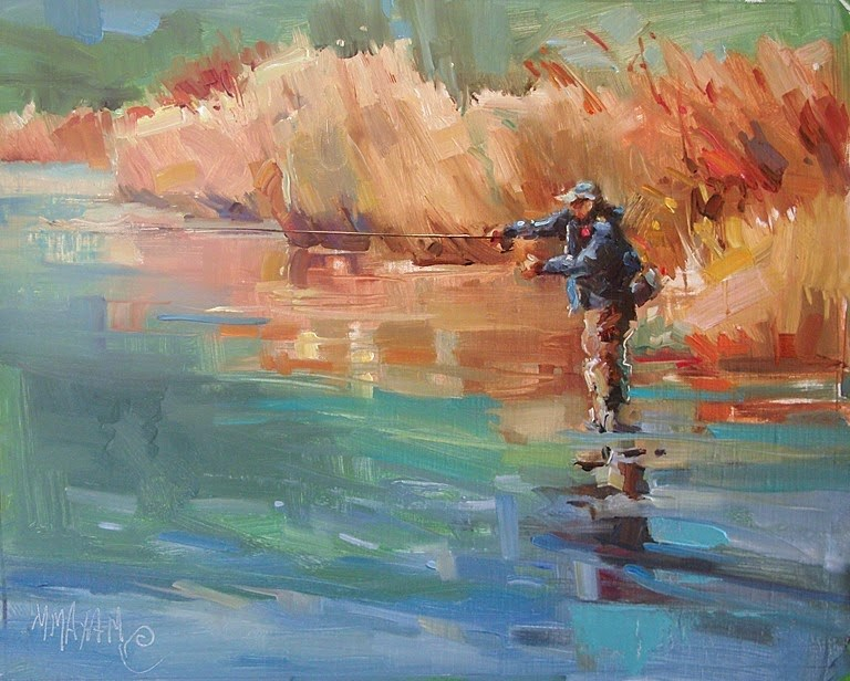 """Afternoon Off"" original fine art by Mary Maxam"