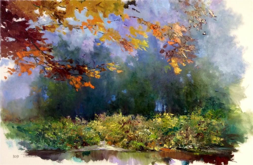 """""""Mystery Grove"""" original fine art by Cathy Boyd"""