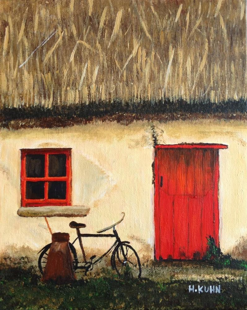 """Irish Cottage"" original fine art by Helen Kuhn"