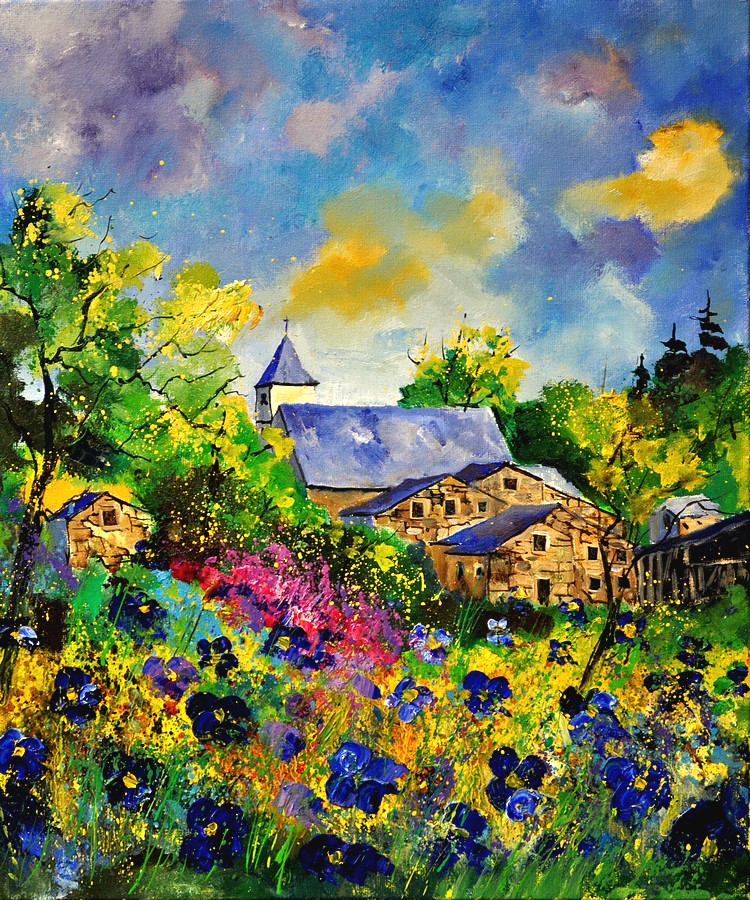 """summer in Houdremont"" original fine art by Pol Ledent"