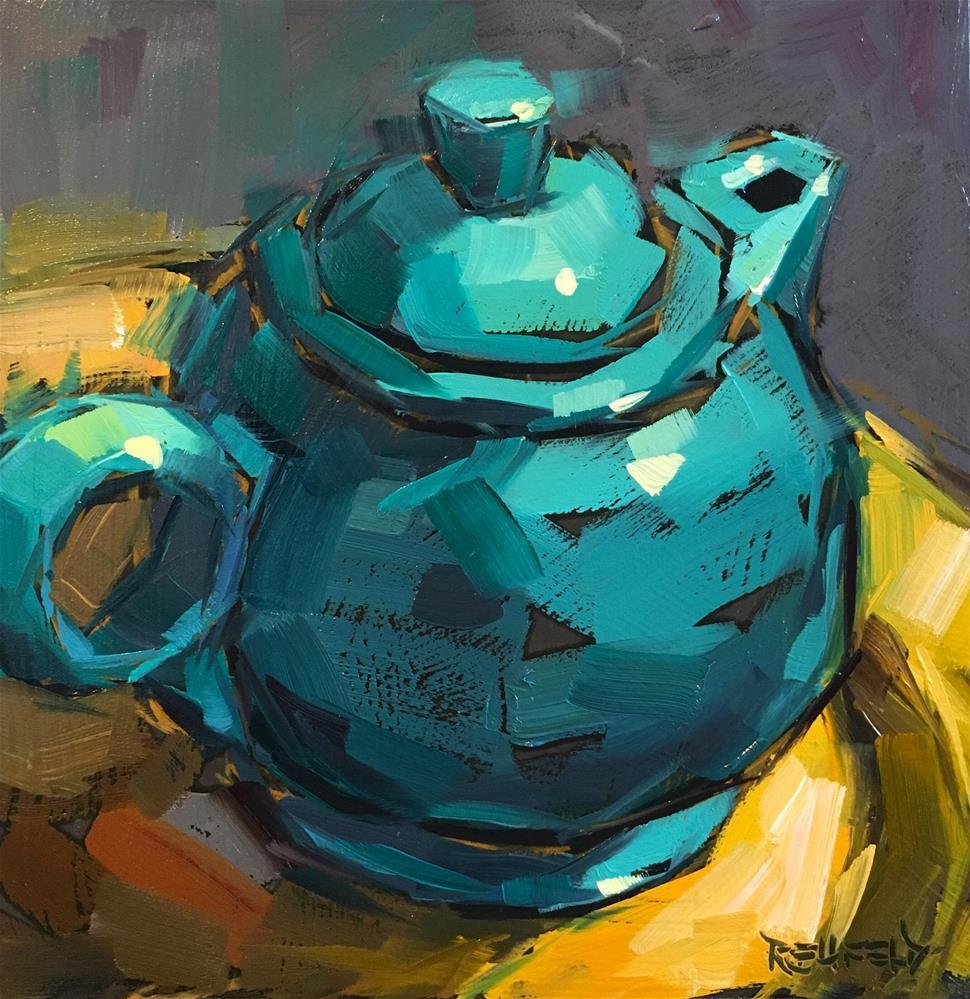 """""""Teapot"""" original fine art by Cathleen Rehfeld"""
