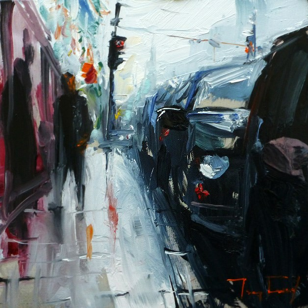 """Street"" original fine art by Jurij Frey"