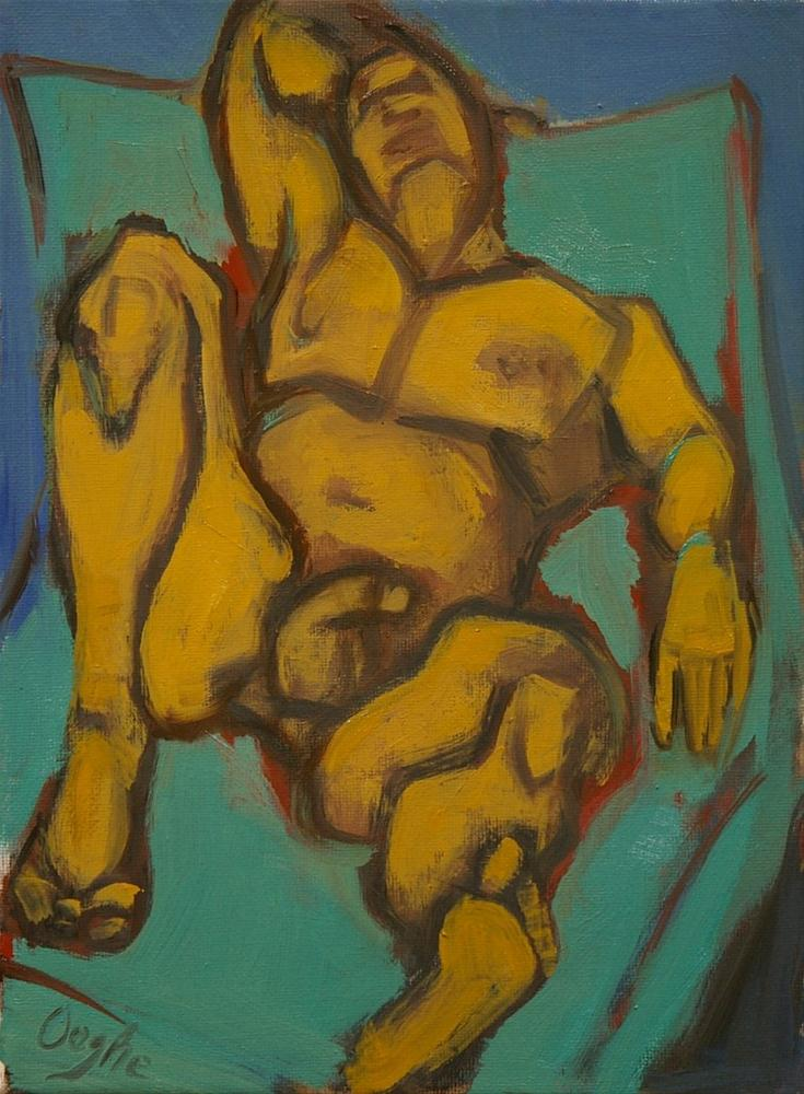 """Reclining Male Nude"" original fine art by Angela Ooghe"