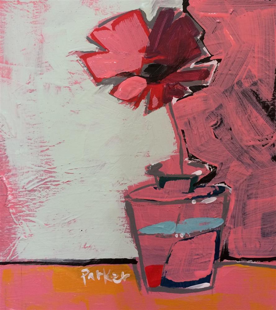 """Flower Sketch No.3"" original fine art by Teddi Parker"